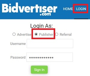 bidvertiser login