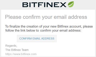 bitfinex confirm mail