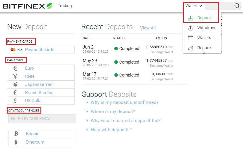 bitfinex deposit