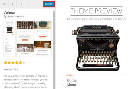 install theme wordpress image