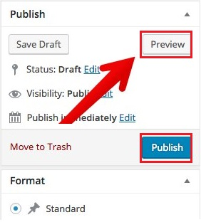 publish post wordpress image