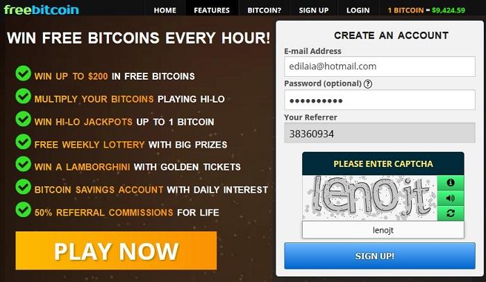 sign up freebitcoin